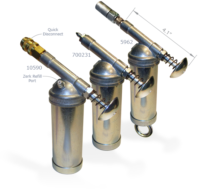 """Dualco Grease Gun Pro with Spring Plunger /& 2/"""" Nozzle"""